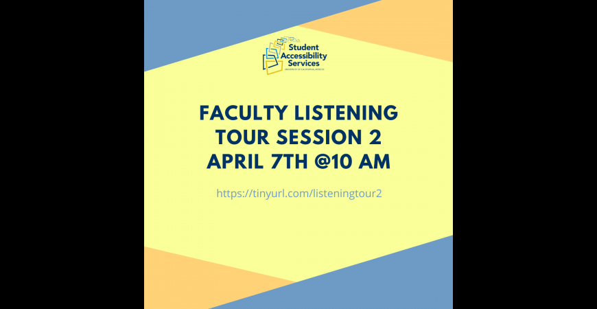 Listening Tour Session 2 - April 7th at 10am